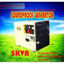 Gute Qualität! Weinlese Weinlese Tragbarer 5kw Dieselgenerator mit ATS, Digitanl Panel