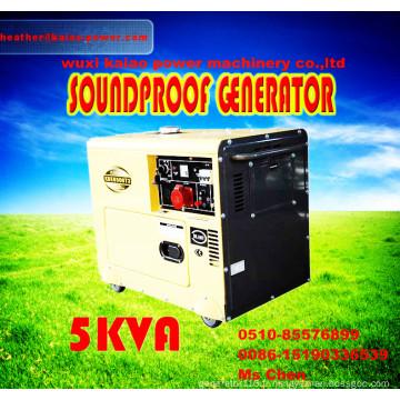 Bonne qualité! ! ! Générateur diesel 5kw portable avec ATS, panneau de Digitanl