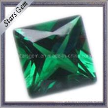 Низкая цена Квадратный зеленый Loose Gemstone Nano Spinel Синтетический шпинель
