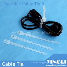 Reusable Cable Ties in Fish-Bone Shape