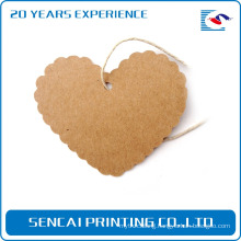 SenCai custom heart shaped kraft paper tags