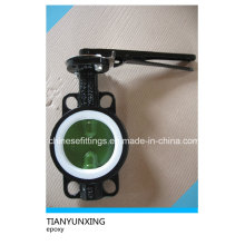Lever Operation Epoxy Coating Ductile Iron Butterfly Valve