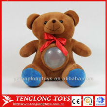 hot sale change colour LED night light plush bear lamp
