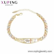 Pulsera al por mayor de alta calidad de la moda de la nueva llegada de 75468 xuping para las mujeres