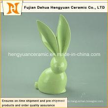 Handgefertigte Handwerk Große Ohren Einzigartiger Entwurf Keramische Ostern Kaninchen