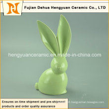 Handmade Craft Big Ears Unique design Ceramic Easter Rabbits