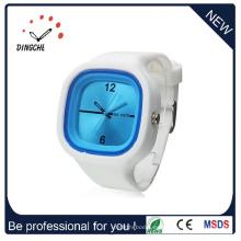 El reloj más barato del regalo mira el reloj del silicio de la promoción de la fábrica del OEM (DC-1319)