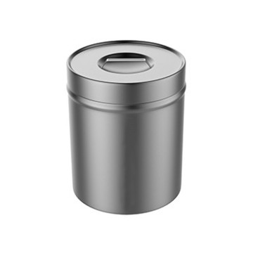 Stainless steel medical dressing jar with knob