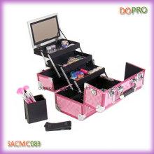 Pink Diamond ABS superfície Profissional de alumínio Maquiagem caso (SACMC089)