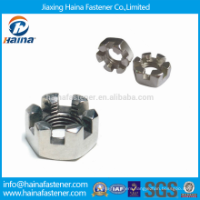 Stock Widely Used DIN937 Stainless Steel Hexagon Thin Castle Nuts