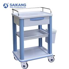 Chariot médical durable de thérapie d'urgence d'ABS de SKR016-CT avec des roulettes