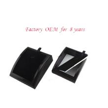 Présentoir de collier de bijoux en bois noir en gros (PN-WCF-BK)