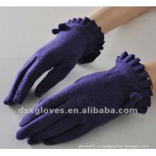 Мода Фиолетовый кашемир перчатки для леди