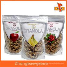 Индивидуальный прозрачный серебряный полиэтиленовый пакет для упаковки сухих продуктов с застежкой-молнией