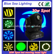 30 watt led moving head spot lighting home party disco lighting