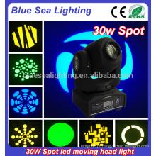 30 watts levou cabeça movendo spot lighting home party disco iluminação