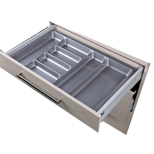Glossy Grey Cutlery Tray 800 mm cabinet