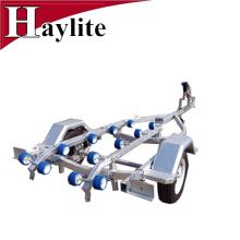 remorque galvanisée en acier de bateau avec des rouleaux