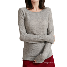 17PKCS501 2017 knit wool cashmere knitted lady sweater