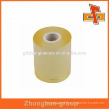 China fabricante transparencia transparente envoltura de la película del pegamento del PVC para el embalaje industrial de los alimentos