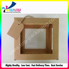 Embalaje de caja de papel Kraft Natural Clear Window