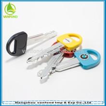 2015 superior venta clave forma bola pluma coche clave pluma promocional regalo bolígrafo