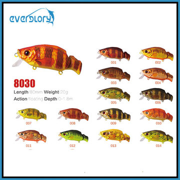 60mm/8.5g Surface Float Action Fishing Lure with Various Color