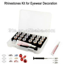 Decoración de gafas, kit de diamantes de imitación para la decoración de gafas