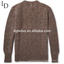 El último suéter diseña el suéter de la rebeca de gran tamaño del algodón del 100% para los hombres