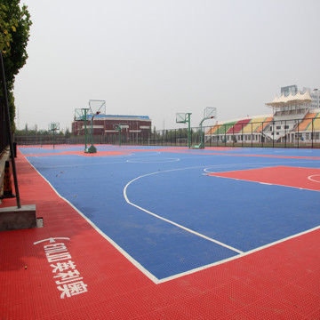 PP Interlocking Court Tiles untuk Basketball Tennis Outdoor