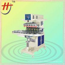 Machine à tampon haute vitesse à 6 couleurs avec convoyeur