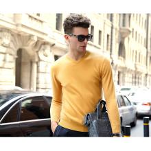 Homens cashmere camisola gola v (13brdm001-2)
