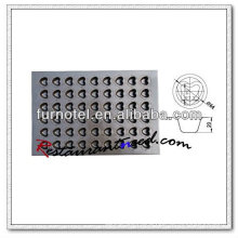 V072 Silicon Non-Stick 54 Cups Heart Shape Cake Mould