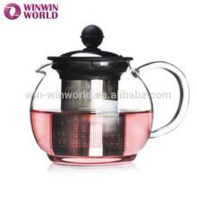 Sonderangebot Werbegeschenk Glas Teekanne mit Infuser