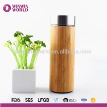 BPA Free Custom Inner Stainless Natural Bamboo Tea Tumbler