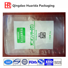 Flat Transparent Plastic Packaging Bag for Frozen Food
