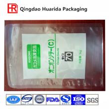 Saco de embalagem de plástico transparente plana para alimentos congelados