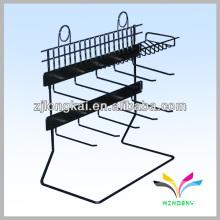 Hot sell art belt metal black floor stand rack display