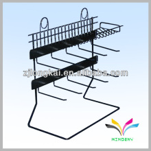 Hot sell art belt metal black floor stand rack display