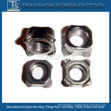 Écrou de soudure carré en acier au carbone DIN928 M6-M24