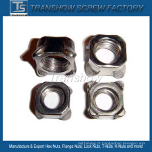 Porca de solda quadrada em aço carbono DIN928 M6-M24