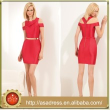 HCD 515 European Style Elegant Red Short Sequin Homecoming Dresses Knee-Length Mini Sheath Party Dress