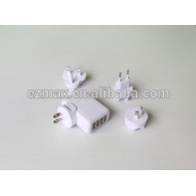 Carregador USB 4ports para celular, US EUR AU UK TW JP opção