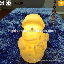 battery operated snow man decorative led night light