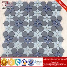 Chinesischer Lieferant 2017 neue Parkett Design Kunst Hintergrund Wand Kristallglas Mosaik Wandfliese
