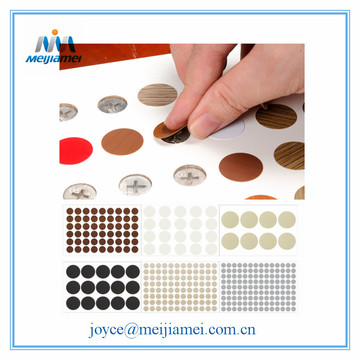 Bottom price for Furniture Screw Caps PVC Fastcaps Screw Cover Sticker/Screw Cap Sticker supply to Poland Suppliers