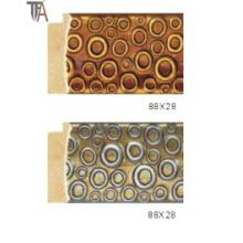 Kreise Design Holz Material für Fenster Vorhang Rahmen
