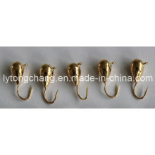 Color oro puro de tungsteno Ice Fishing Jig Head Dia5mm USD0.28 / PC