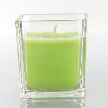 Green Apple Harvest Spice Scented Soy wax Candle in Glass Jar