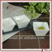 Casse-croûte en porcelaine et plat de service